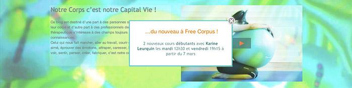 2 nouveaux cours Pilates de Karine Leurquin chez Free Corpus - Paris - niveau débutant