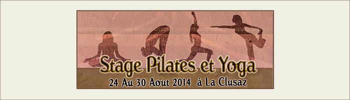 Stage Pilates et Yoga à La Clusaz août 2014 - Karine Leurquin