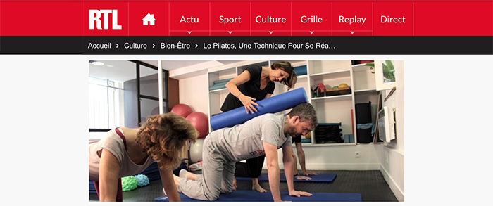 Article Pilates Interview RTL - Karine Leurquin