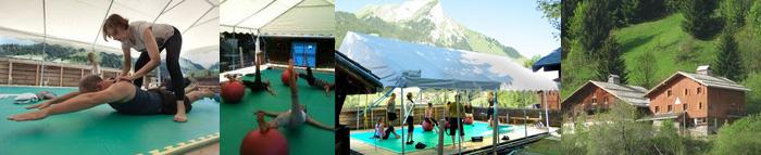 """Stage """"Pilates Yoga Qi Gong"""" Karine Leurquin & Hélène de Villepey à La Clusaz"""
