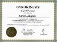 Certificat Gyrokinesis - GK certificate - Karine Leurquin