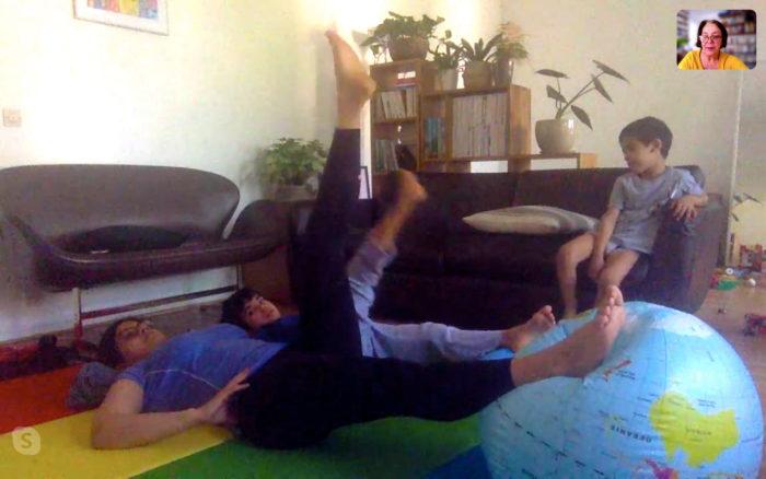 Karine Leurquin : Cours de Pilates à distance
